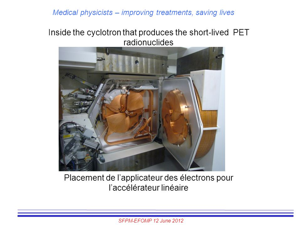 Inside the cyclotron that produces the short-lived PET radionuclides