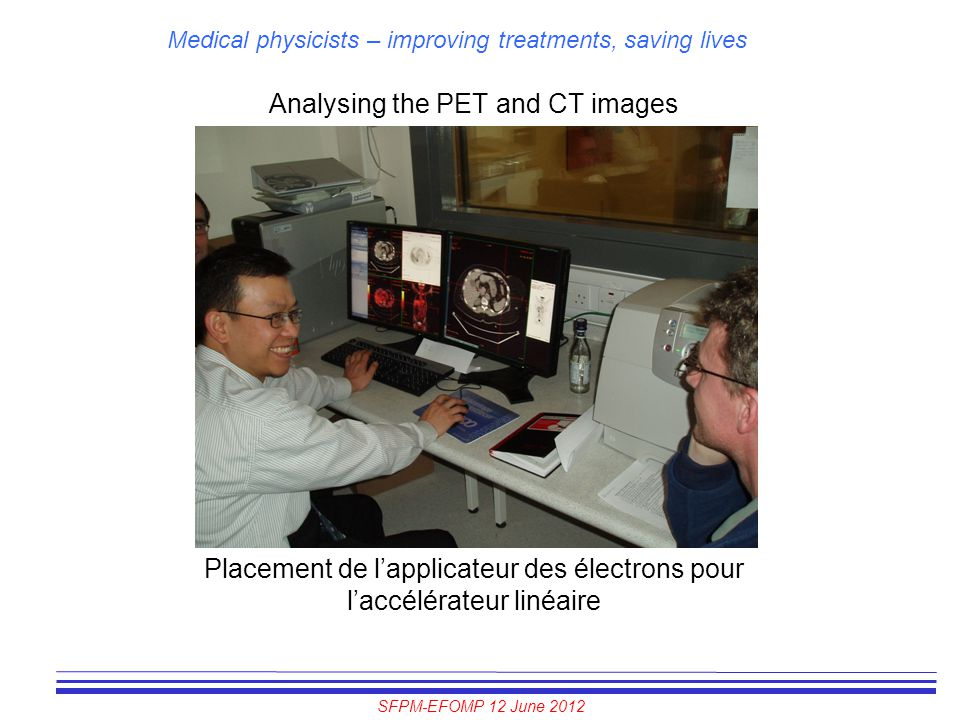 Analysing the PET and CT images