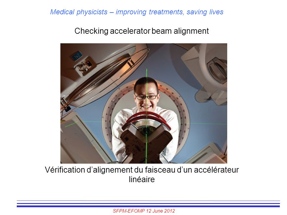 Checking accelerator beam alignment