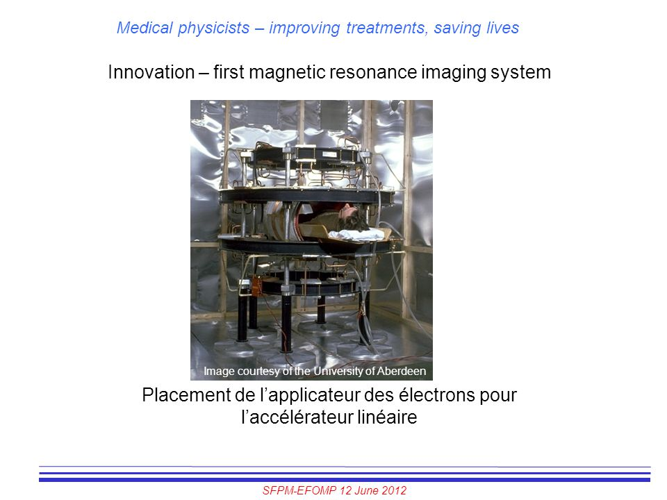 Innovation – first magnetic resonance imaging system