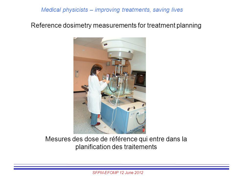 Reference dosimetry measurements for treatment planning