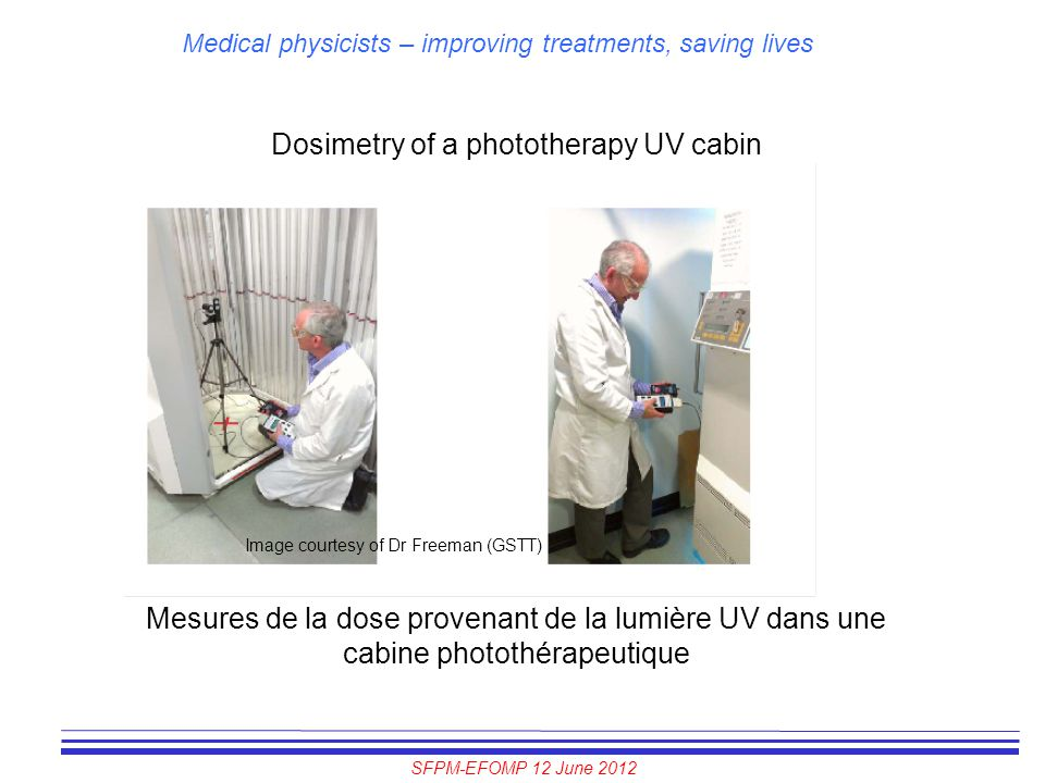 Dosimetry of a phototherapy UV cabin