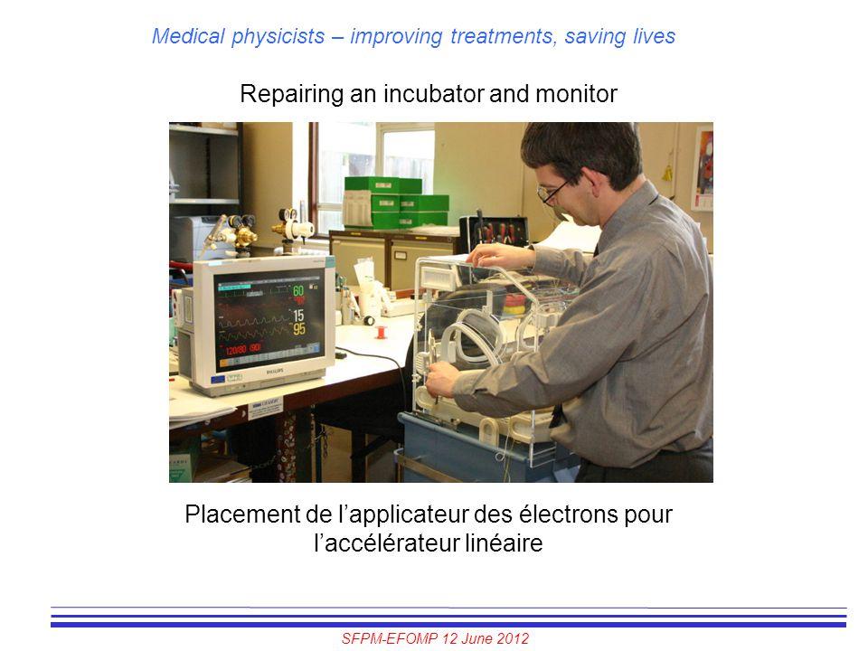 Repairing an incubator and monitor