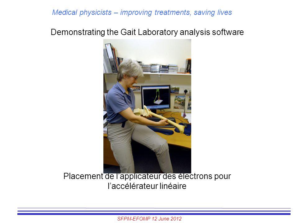 Demonstrating the Gait Laboratory analysis software