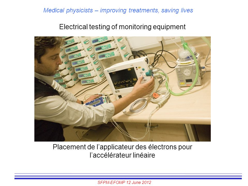 Electrical testing of monitoring equipment