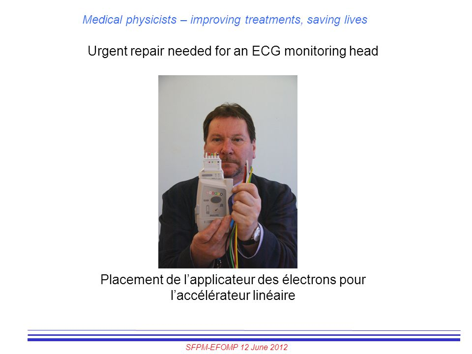 Urgent repair needed for an ECG monitoring head