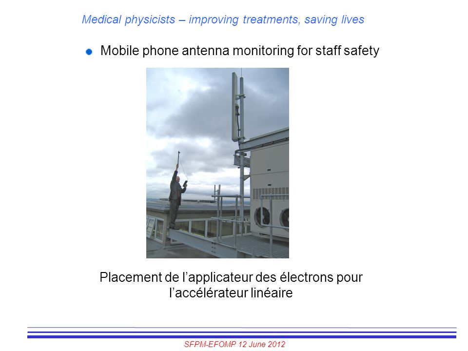 Mobile phone antenna monitoring for staff safety