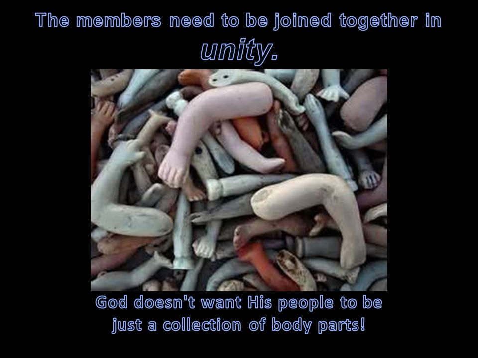 unity. The members need to be joined together in
