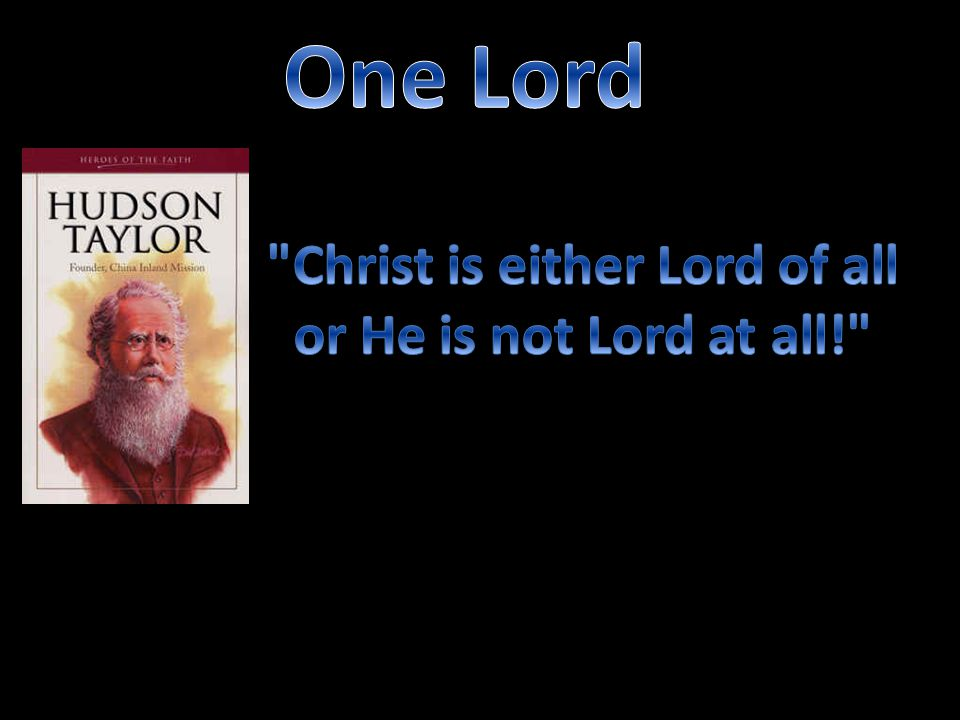 Christ is either Lord of all