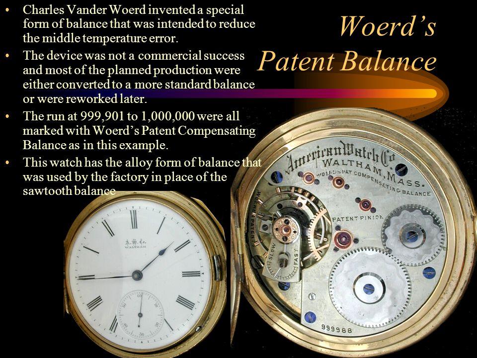 Woerd's Patent Balance