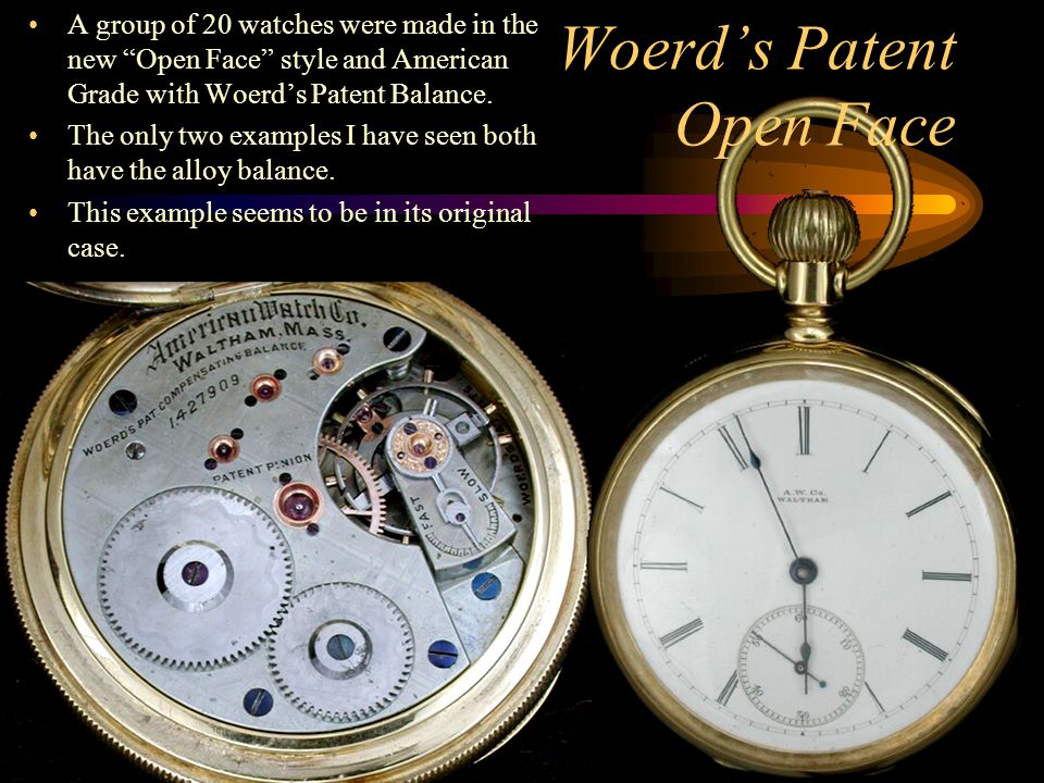 Woerd's Patent Open Face