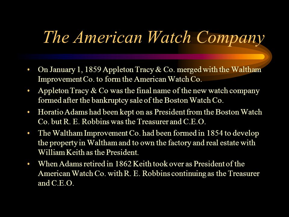The American Watch Company