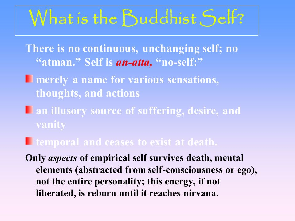 What is the Buddhist Self