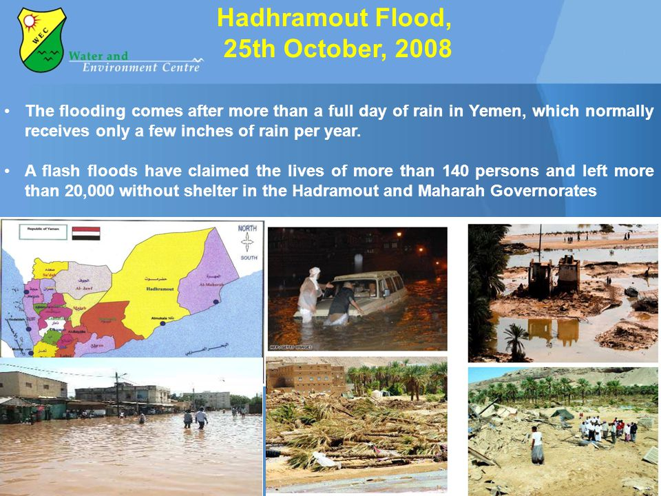 Hadhramout Flood, 25th October, 2008