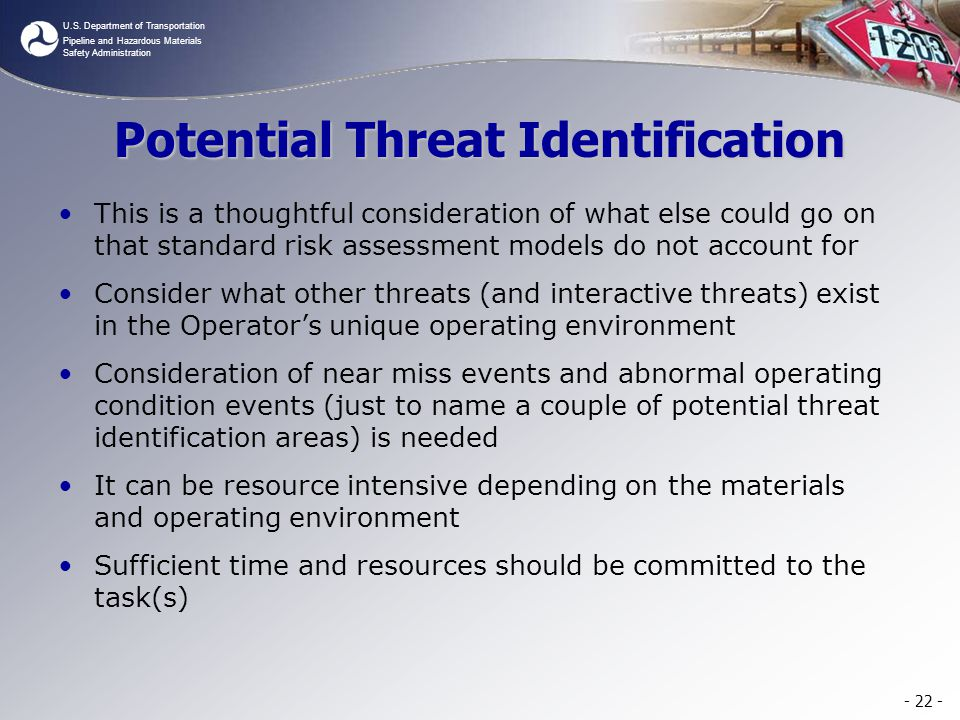 Potential Threat Identification