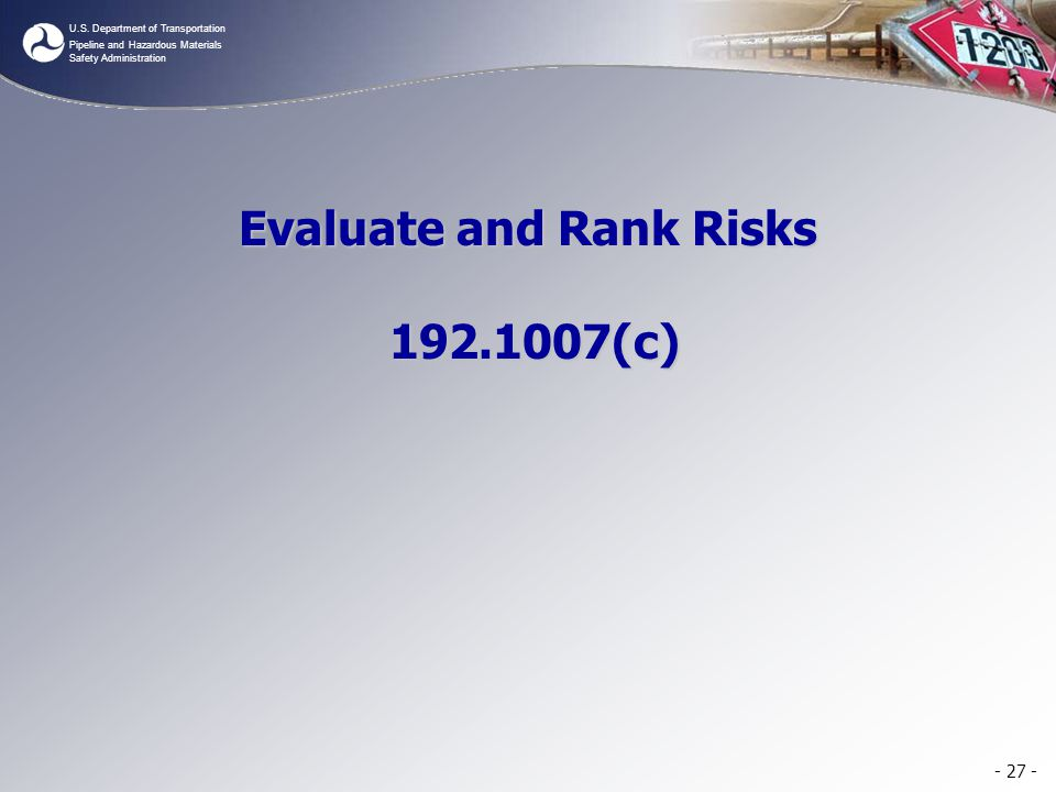 Evaluate and Rank Risks 192.1007(c)