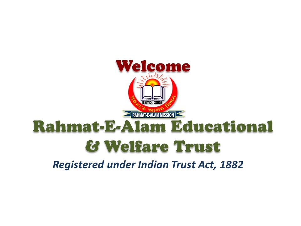 Welcome Rahmat-E-Alam Educational & Welfare Trust