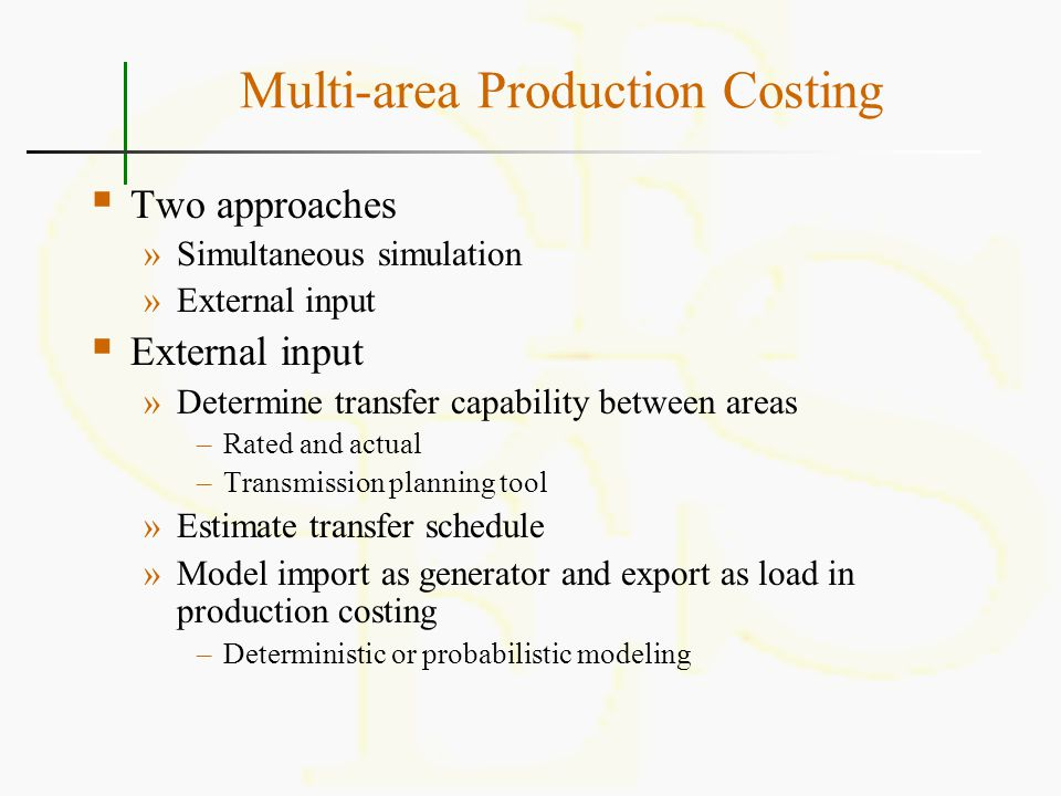 Multi-area Production Costing