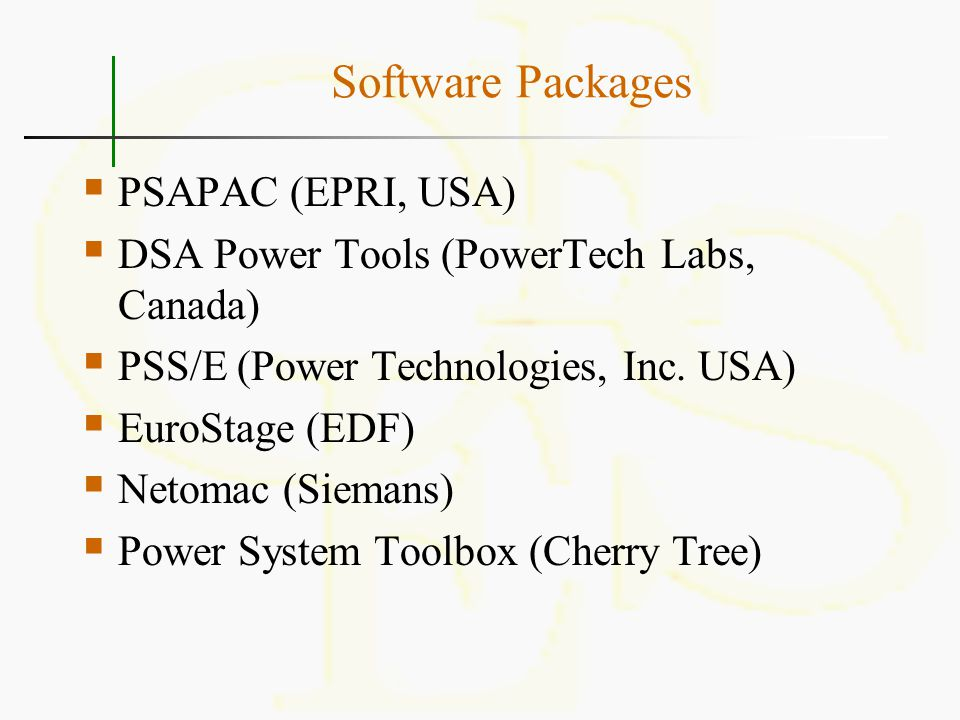 Software Packages PSAPAC (EPRI, USA)