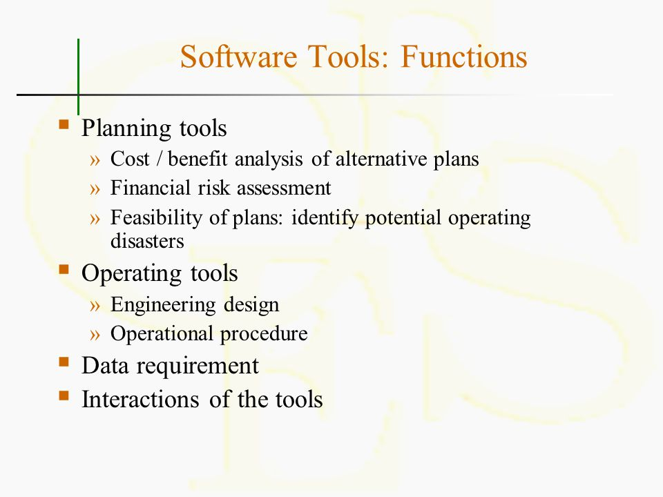 Software Tools: Functions