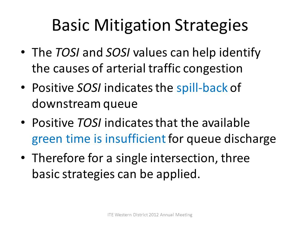 Basic Mitigation Strategies