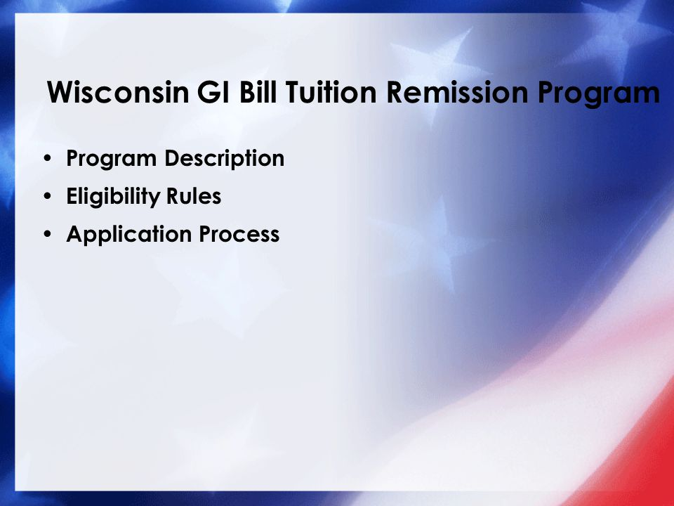 Wisconsin GI Bill Tuition Remission Program