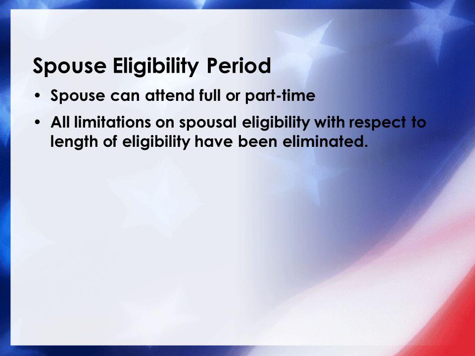 Spouse Eligibility Period