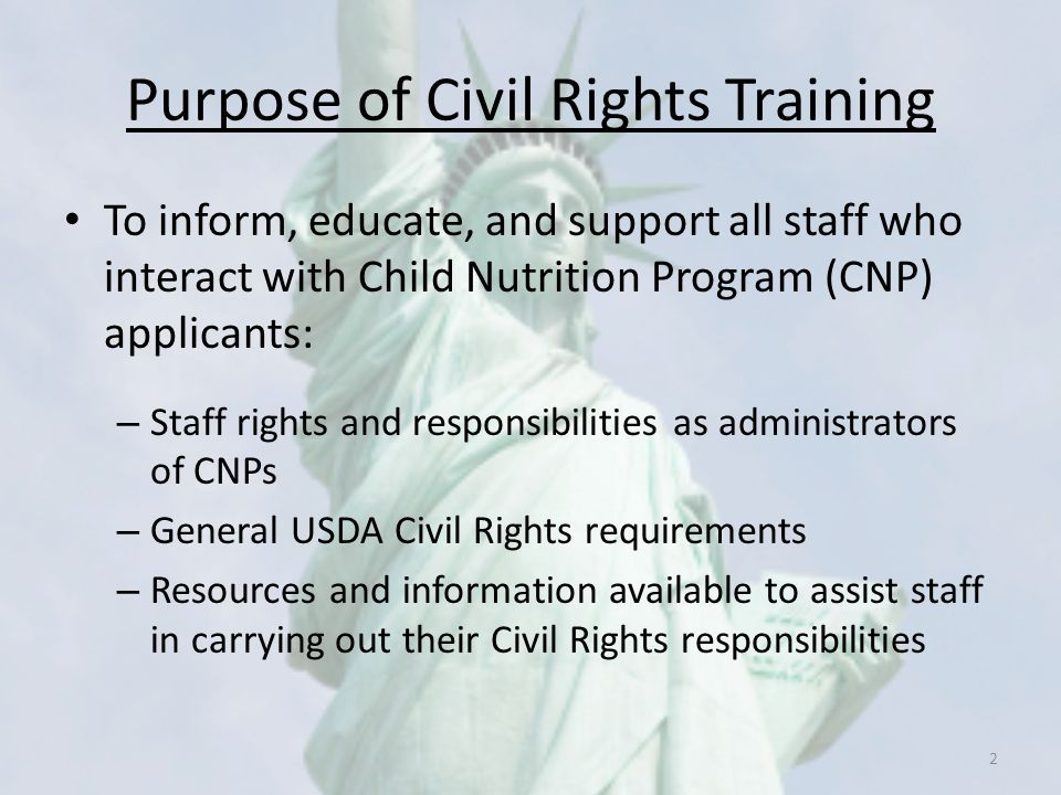 Purpose of Civil Rights Training