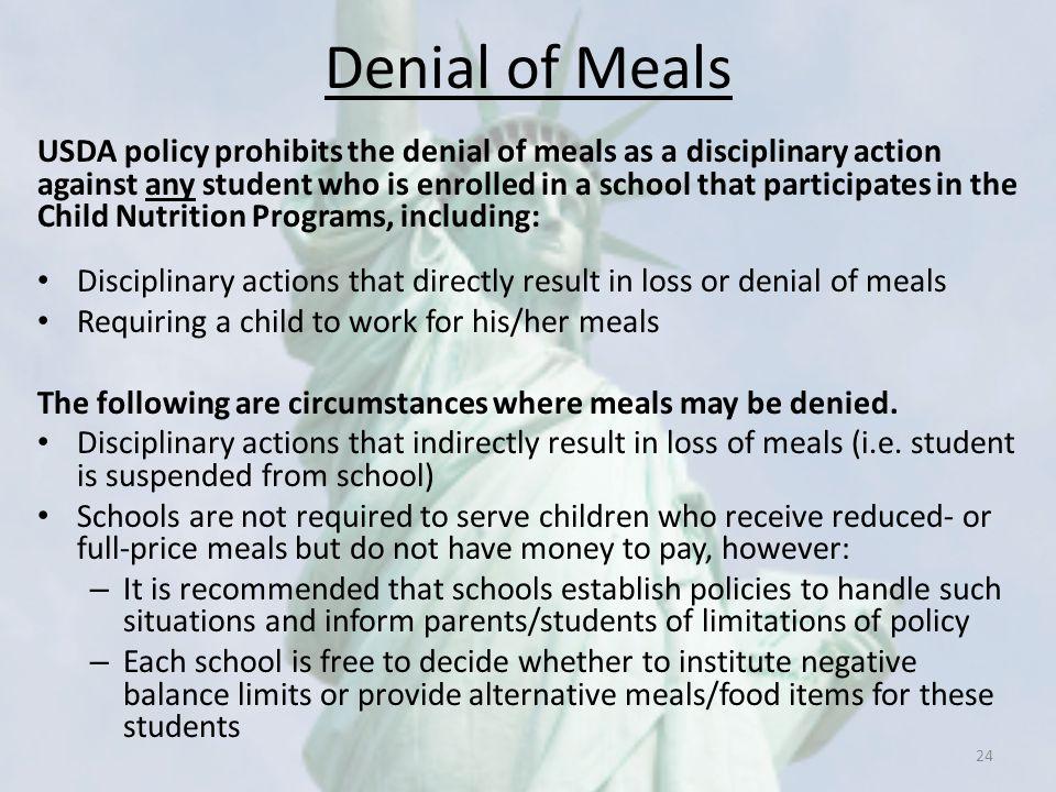 Denial of Meals
