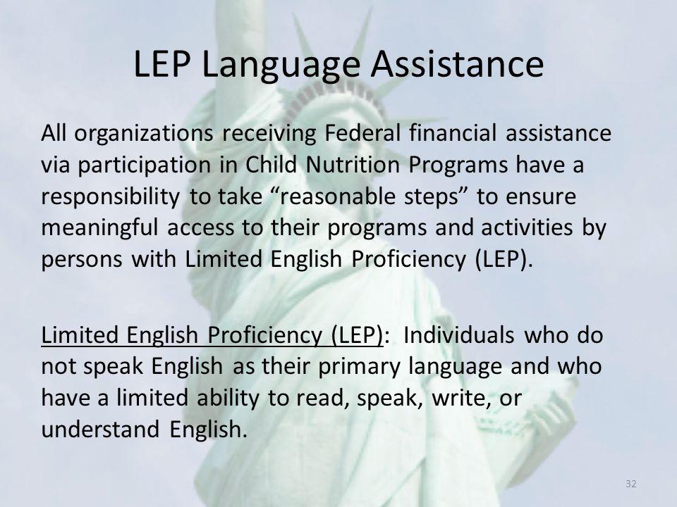 LEP Language Assistance