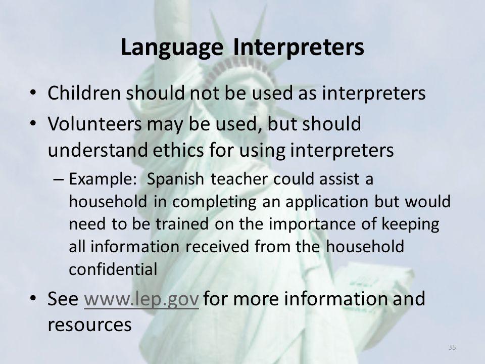 Language Interpreters