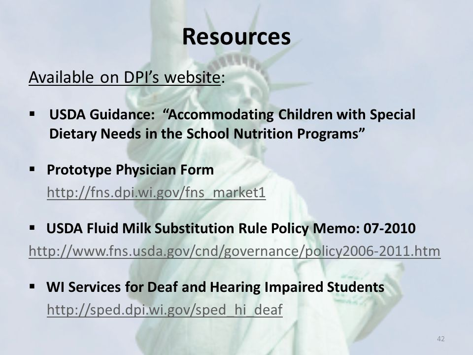 Resources Available on DPI's website: