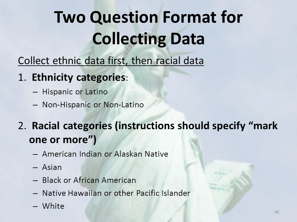 Two Question Format for Collecting Data
