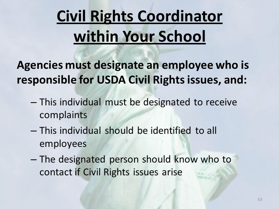 Civil Rights Coordinator within Your School