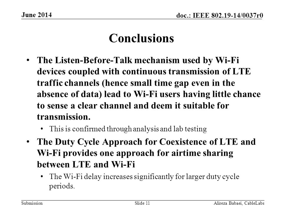 June 2014 Conclusions.