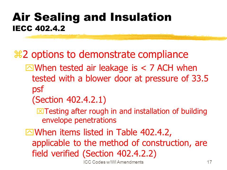 Air Sealing and Insulation IECC 402.4.2