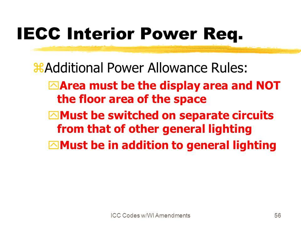 IECC Interior Power Req.