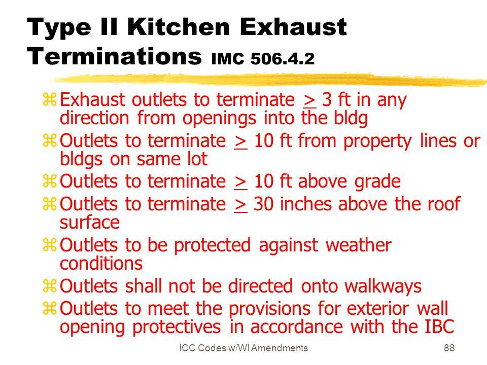 Type II Kitchen Exhaust Terminations IMC 506.4.2