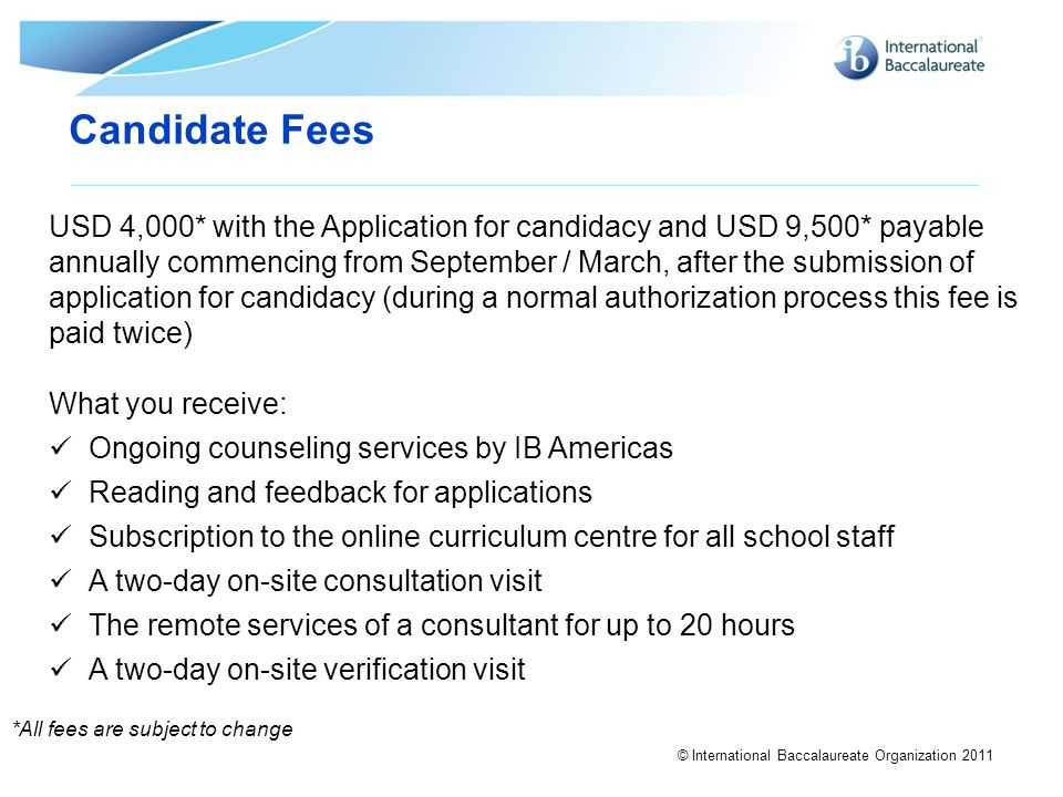 Candidate Fees