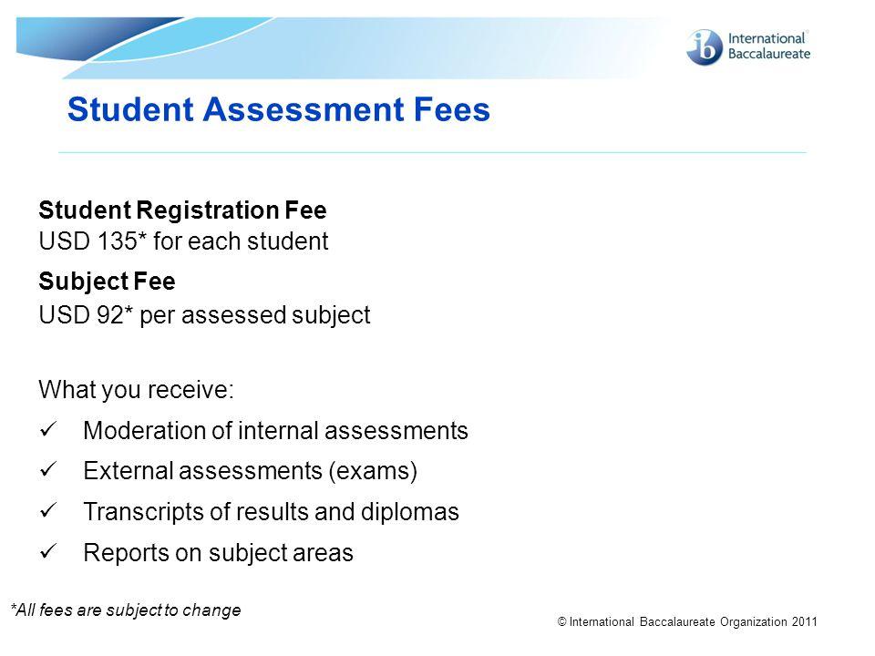 Student Assessment Fees
