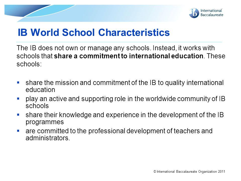 IB World School Characteristics