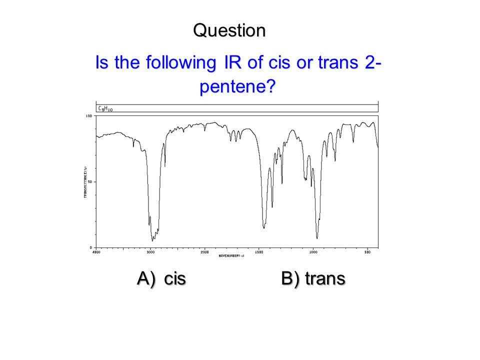 Is the following IR of cis or trans 2-pentene