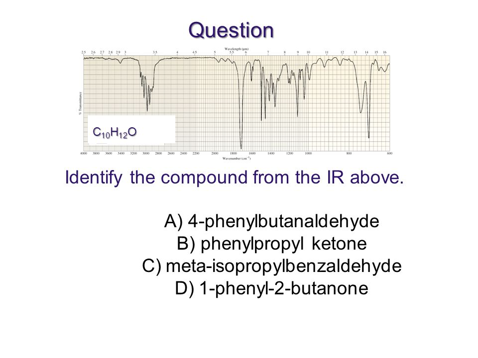 Question Identify the compound from the IR above.