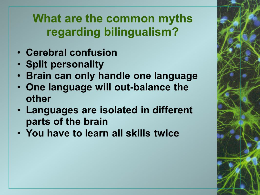 What are the common myths regarding bilingualism