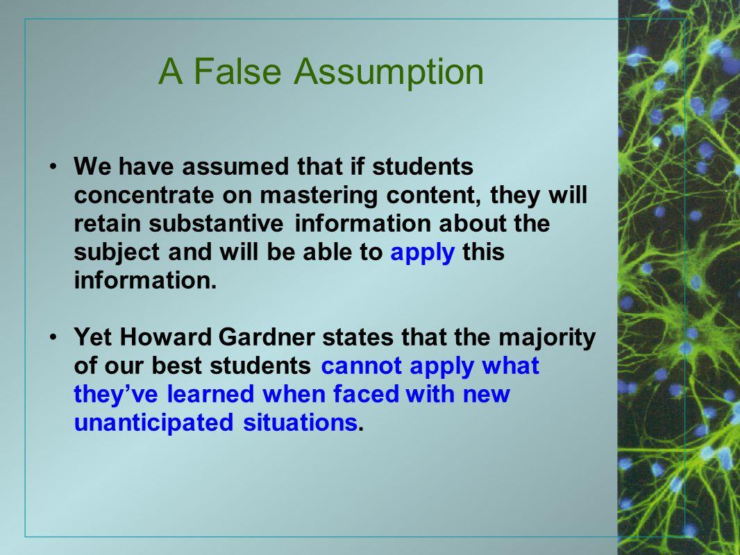A False Assumption