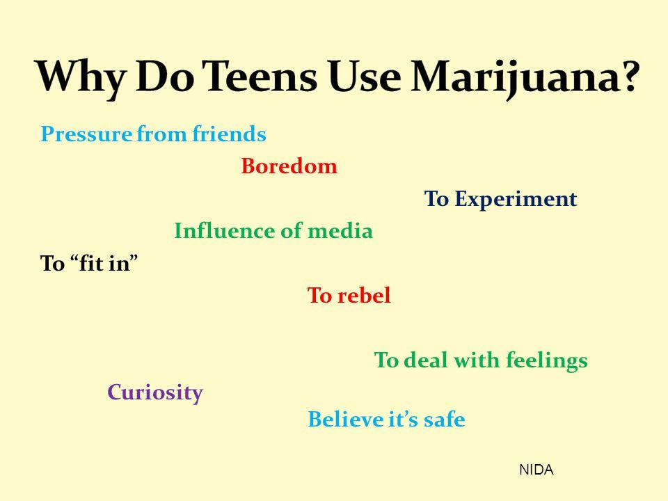 Why Do Teens Use Marijuana