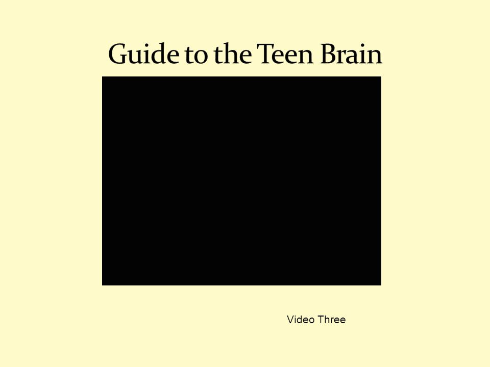 Guide to the Teen Brain Video Three