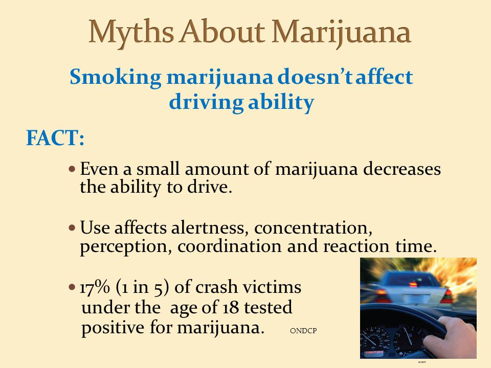 Smoking marijuana doesn't affect