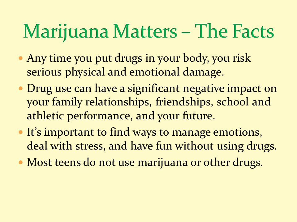 Marijuana Matters – The Facts