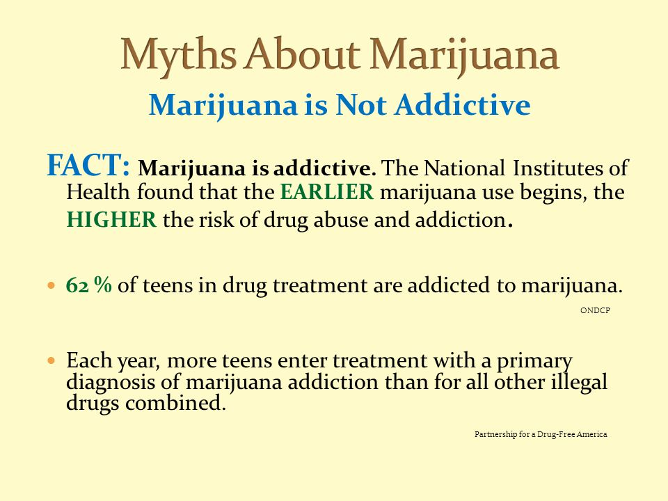 Marijuana is Not Addictive